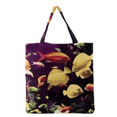 Tropical Fish Grocery Tote Bag by Valentinaart
