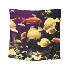 Tropical Fish Square Tapestry (small) by Valentinaart