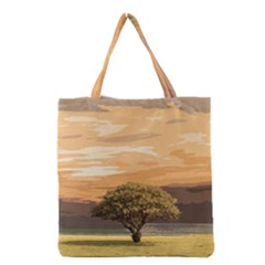 Landscape Grocery Tote Bag by Valentinaart