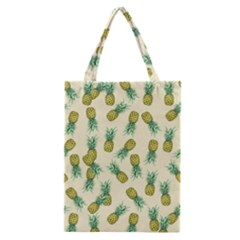 Pineapples Pattern Classic Tote Bag
