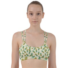 Pineapples Pattern Line Them Up Sports Bra by Valentinaart
