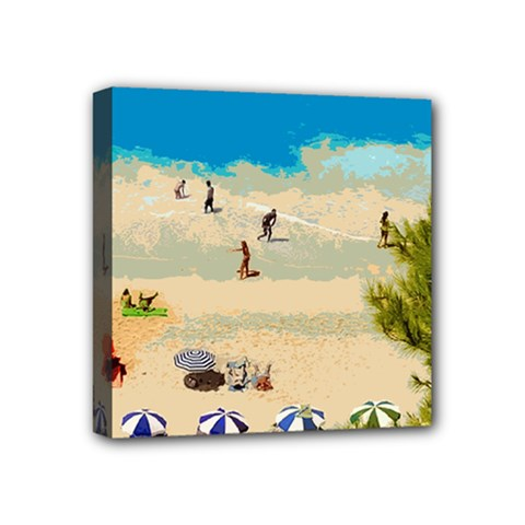 Beach Mini Canvas 4  X 4  by Valentinaart
