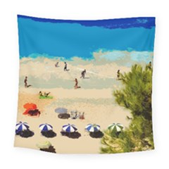 Beach Square Tapestry (large) by Valentinaart