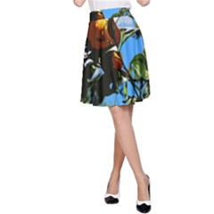 Orange Tree A Line Skirt