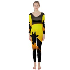 Giraffe  Long Sleeve Catsuit