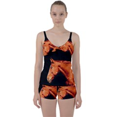 Horse Tie Front Two Piece Tankini