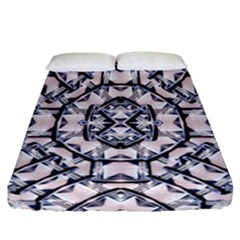 Futuristic Geo Print Fitted Sheet (california King Size) by dflcprints
