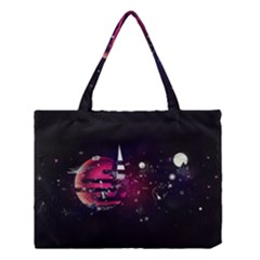 Fragments Planet World 3840x2400 Medium Tote Bag by amphoto