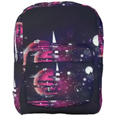Fragments Planet World 3840x2400 Full Print Backpack by amphoto