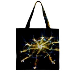 Surface Pattern Light  Zipper Grocery Tote Bag by amphoto