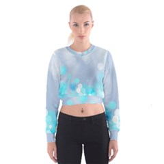 Highlights Circles Light  Cropped Sweatshirt by amphoto