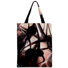 Connection Shadow Background  Zipper Classic Tote Bag by amphoto