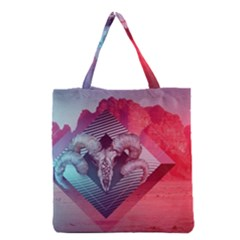 Horns Background Cube  Grocery Tote Bag by amphoto