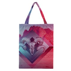 Horns Background Cube  Classic Tote Bag by amphoto