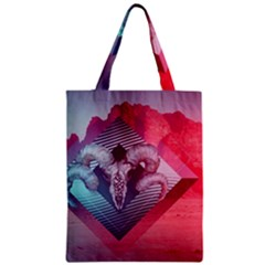 Horns Background Cube  Zipper Classic Tote Bag by amphoto