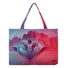 Horns Background Cube  Medium Tote Bag by amphoto