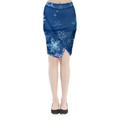 Abstraction Pattern Color  Midi Wrap Pencil Skirt by amphoto