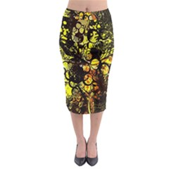 Circles Lines Background  Midi Pencil Skirt by amphoto