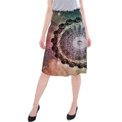 Circle Figures Background  Midi Beach Skirt by amphoto