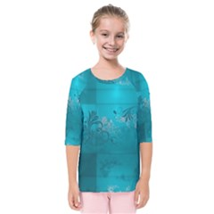 Volume Pattern Abstract Kids  Quarter Sleeve Raglan Tee by amphoto