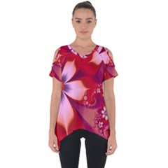 2480 Flowers Petals Red 3840x2400 Cut Out Side Drop Tee