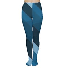 2435 Line Gray Blue 3840x2400 Women s Tights by amphoto