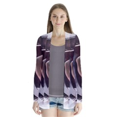 2272 Paper Paint Lines 3840x2400 Drape Collar Cardigan by amphoto