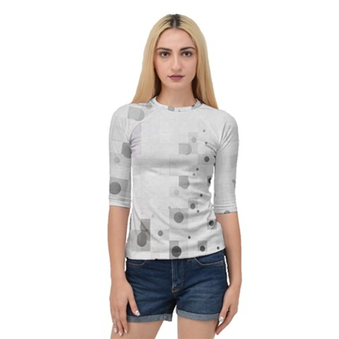 Squares Colorful Spots  Quarter Sleeve Raglan Tee by amphoto