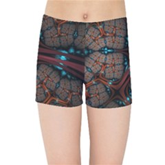 Surface Grid Lines  Kids Sports Shorts