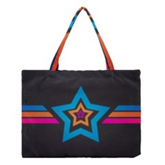 Star Background Colorful  Medium Tote Bag by amphoto