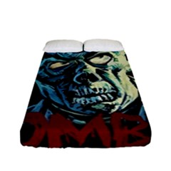 Zombie Fitted Sheet (full/ Double Size) by Valentinaart