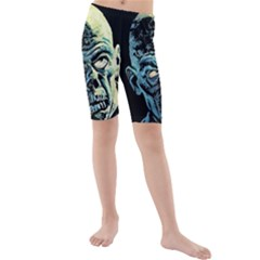 Zombie Kids  Mid Length Swim Shorts