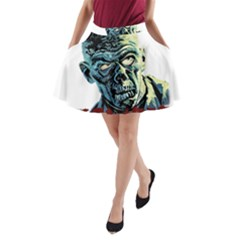 Zombie A Line Pocket Skirt by Valentinaart