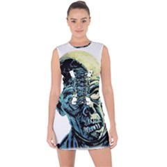 Zombie Lace Up Front Bodycon Dress