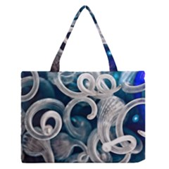 Spiral Glass Abstract  Zipper Medium Tote Bag by amphoto
