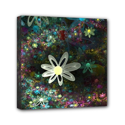 Flowers Fractal Bright 3840x2400 Mini Canvas 6  X 6  by amphoto