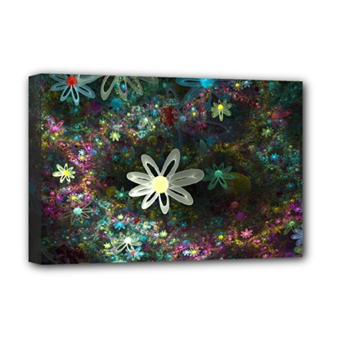 Flowers Fractal Bright 3840x2400 Deluxe Canvas 18  X 12   by amphoto