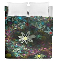 Flowers Fractal Bright 3840x2400 Duvet Cover Double Side (queen Size)