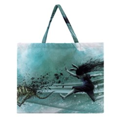 Running Abstraction Drawing  Zipper Large Tote Bag by amphoto