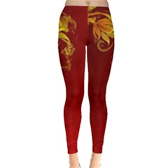 Fire Effect Background  Leggings  by amphoto