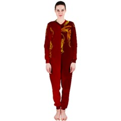 Fire Effect Background  Onepiece Jumpsuit (ladies)  by amphoto
