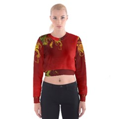 Fire Effect Background  Cropped Sweatshirt by amphoto