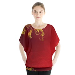Fire Effect Background  Blouse by amphoto