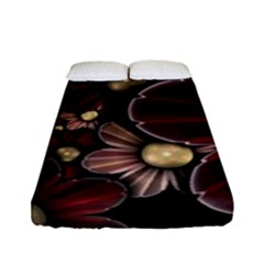 Flower Background Line Fitted Sheet (full/ Double Size) by amphoto