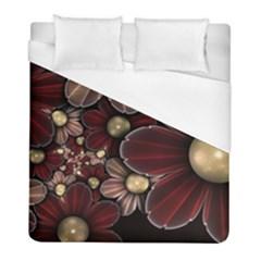 Flower Background Line Duvet Cover (full/ Double Size) by amphoto