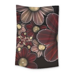 Flower Background Line Small Tapestry by amphoto