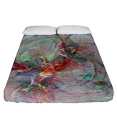 Shroud Clot Light  Fitted Sheet (california King Size) by amphoto