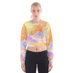 Colors Patterns Lines  Cropped Sweatshirt by amphoto