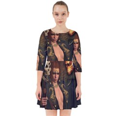 The Dark Side, Women With Skulls In The Night Smock Dress