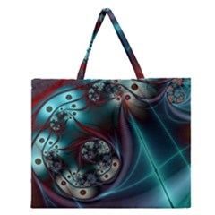 Rotation Patterns Lines  Zipper Large Tote Bag by amphoto